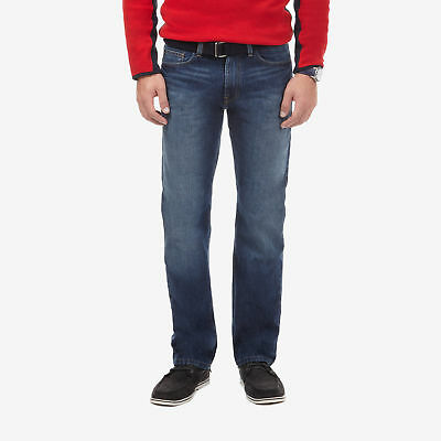 Nautica Mens Glacier Wash Relaxed Denim Jeans