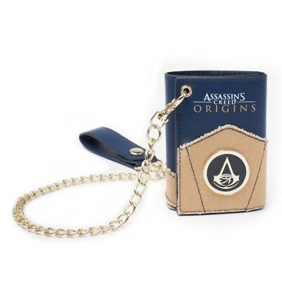 NEW OFFICIAL Assassin's Creed Origins Logo Boys Mens Wallet with Chain