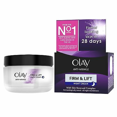 Olay Anti-Wrinkle Firm & Lift Night Cream With Skin Renewal Complex 50ml