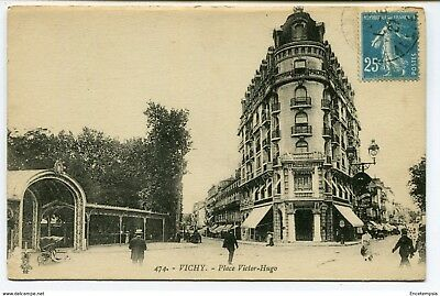 CPA-Carte postale -FRANCE - VICHY - Place Victor Hugo 1927 (CP2314)