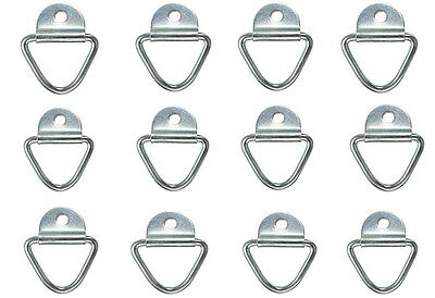12 x Tie Down Lashing Ring Cleat Truck Van Horsebox Trailer Transporter Ring HGV