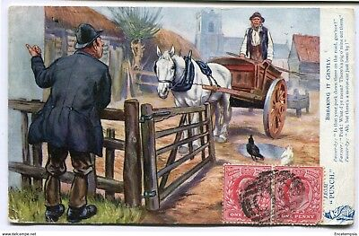 """CPA-Carte postale -Royaume-Uni - From """"Punch"""" - Breaking It Gently - 1907"""