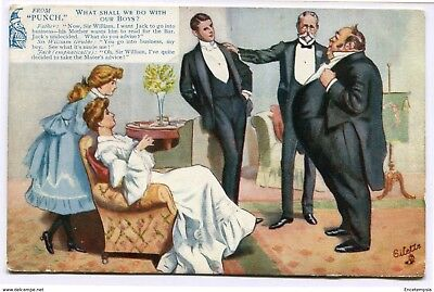 """CPA-Carte postale -Royaume-Uni -From """"Punch"""" - What Shall We Do With Our Boys? -"""