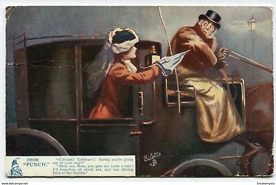 """CPA-Carte postale -Royaume-Uni -From """"Punch"""" -Cabman ! - 1907 (CP2328)"""