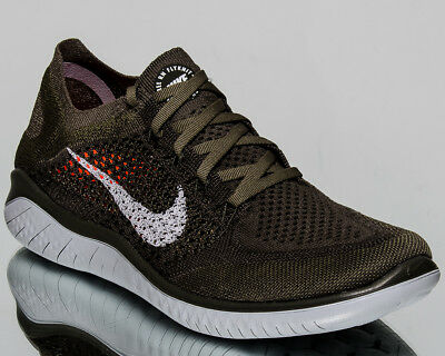 the latest 98386 95f9e NIKE FREE RN Flyknit 2018 Men Cargo Khaki Running Shoes Last size 7US  942838-300