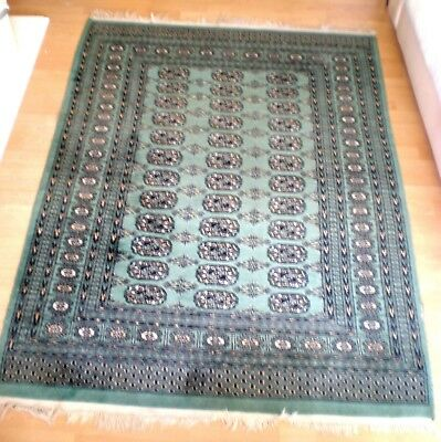 GREEN RUG age unknown 173 x 129 cm Forest Green shade