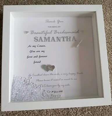 TODAY MY BRIDESMAID Forever My Friend ENGRAVED PERSONALISED Frame ...