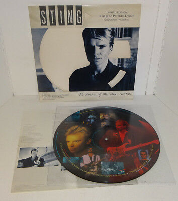 STING THE DREAM OF THE BLUE TURTLES 1985 A&M SOUVENIR PICTURE DISC LP The Police