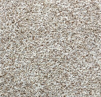 Forest Puma Beige Luxury Saxony Carpet AnySize Lounge Bedroom Stairs Cheap 4m