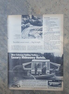 1981 print ad-New Coleman Folding Trailer-Luxury Hideaway Hotels