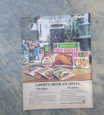 1981 print ad-Lawry's Fiesta-Our Place-Lawry's California Center-Or Yours-Tacos