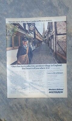 1981 print ad-Western Airlines-Come to Life in Britain!