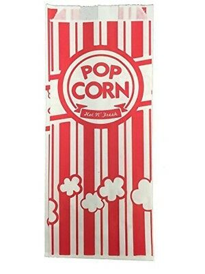 URPARTY Paper Popcorn Bags 1 oz Red and White 1000 Piece