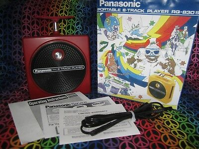 Panasonic 8 Track Player TNT RQ-830S  Red, Fully Serviced with warranty