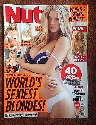 Nuts Lads Magazine 13- 19 Sept 2013 World's Sexiest Blondes Good Used Conditio