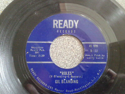 Northern Soul/R&B Original 45 Gil Blanding - Rules. Cracked!