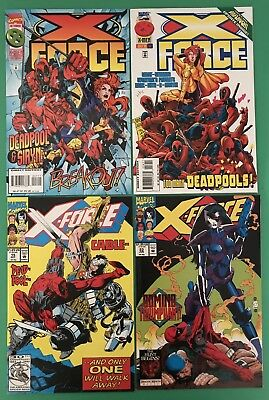 Lot of 4 - X-Force #15 23 47 56 - Marvel Comics - Cable Domino Deadpool Movie!