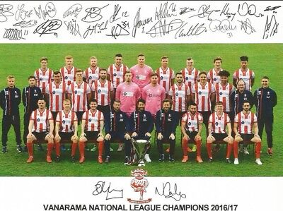 Lincoln City Signed Squad Photo. League Winners 2016/17