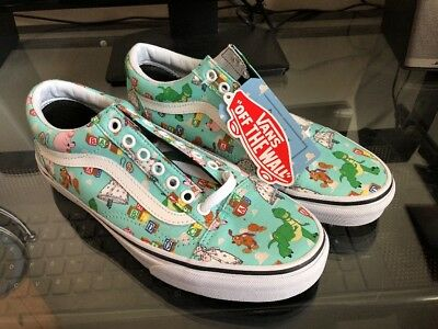 c98792b0a8f3ba New Vans Disney Toy Story Andy s Old Skool Mint and White Mens size 7 Womens  8.5