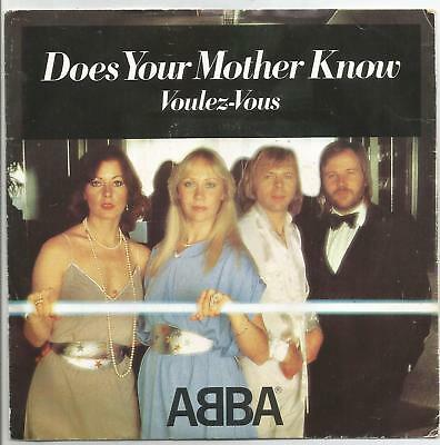 "ABBA does your mother know / voulvez-vous 7"" 45 Portugal PS 1979 NM"