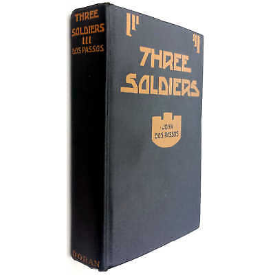 Dos Passos, John (©1921) Three Soldiers - First Edition, First Printing, Seco...