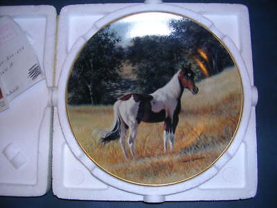 """Majestic Horse Collection collector plate  """"The American Paint Horse"""" NIB w/ COA"""
