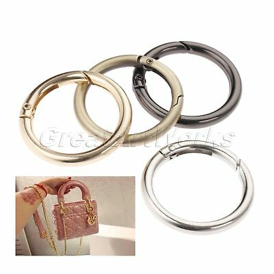 5pcs Spring O Rings Belt Strap Dog Chain Buckles Luggage Sewing Bag Opening Ring