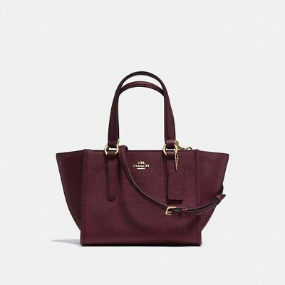 e25027d35c7f NEW COACH F11925 Crosby Carryall 21 In Crossgrain Leather Oxblood NWT -   129.85