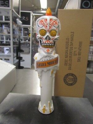 "Negra Modelo Day of The Dead Skull Beer Tap Handle - New In Box - 11"" Tall"