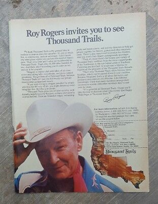 1983 print ad-Roy Rogers invites you to see Thousand Trails