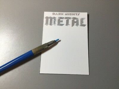 METAL SKETCH CARD WITH SKETCH OF YOUR CHOICE BY VAN SCIVER! Original Art!