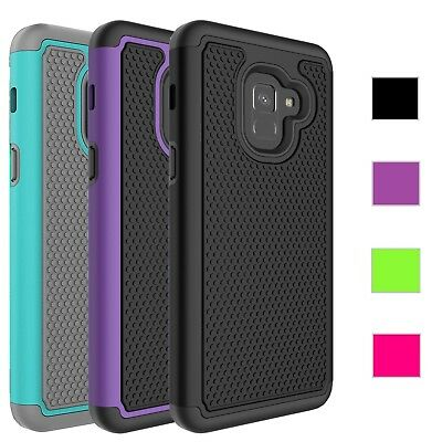 Samsung Galaxy A8 2018 Case Rugged Rubber Shockproof Impact Hybrid Armor Cover