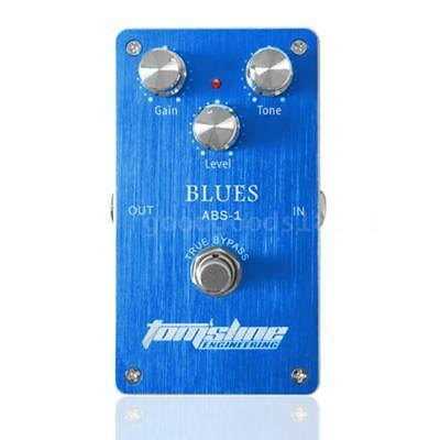 Aroma ABS-1 Blues Distortion Electric Guitar Effect Pedal True Bypass Blue O1T3