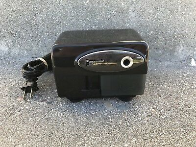 Panasonic Auto-Stop KP-310 Black Suction Cup Base Electric Pencil Sharpener
