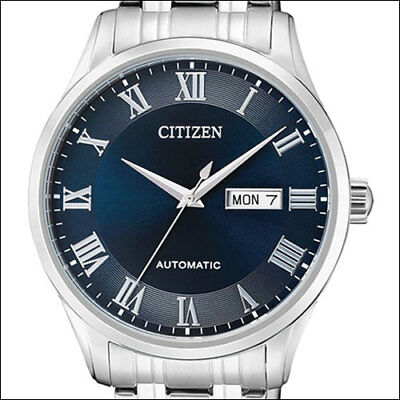 Citizen Automatic, Blue Dial Dress Watch, 41mm Case and SS Bracelet NH8360-80L