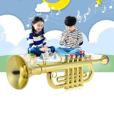 Toy Trumpet with 4 Colored Keys Musical Instrument Gift for Kids Children X3A5