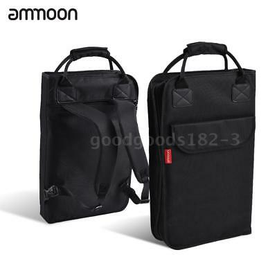 ammoon Drum Stick Backpack Drumsticks Mallet Bag Case Zippered Padded with M5N4