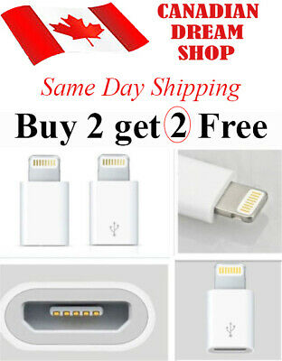 Micro USB Female to 8 pin male Lightning adapter for Apple iPhone Ipad