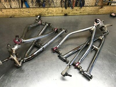 TRX 250R CHROME Triple E Fab +3/1 Long Travel Control Arms Tie Rods TRX250R