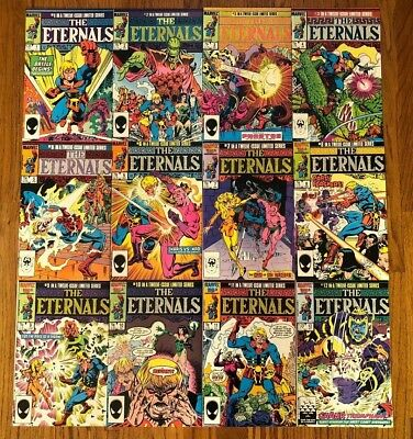 Eternals 1 2 3 4 5 6 7 8 9 10 11 12 Marvel Comics 1985 Complete Set VF/NM