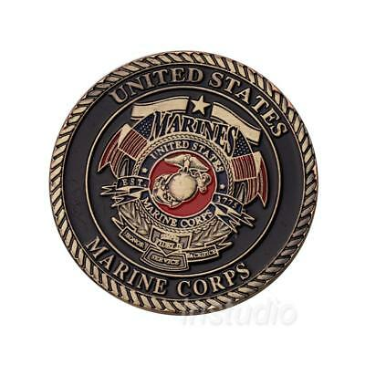 1pc Marines Devil Dog Commemorative Coin Collectible Craft Gift UK
