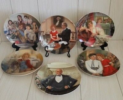 Knowles Little Orphan Annie Collector Plates Set of 6 With COA & Boxes Limited