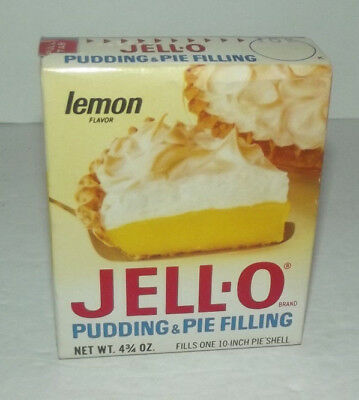 Neat Vintage Unopened General Foods Jell Lemon Pudding And Pie Filling