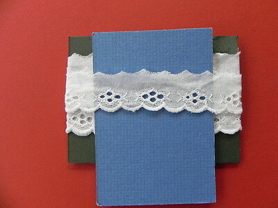 Card of Broiderie Anglaise Lace - White
