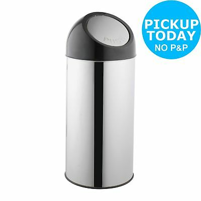 HOME 45 Litre Push Top Kitchen Bin - Silver.From the Official Argos Shop V101163