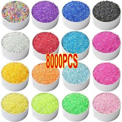 8000x 2mm Czech Glass Seed Spacer Beads Jewelry Making DIY Finding Crafts Lot