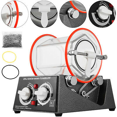 3Kg Rotary Tumbler Jewelry Polisher Finisher Polishing 5 Speed Tumbling Pro