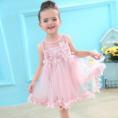 Flower Girls Summer Princess Dress Kid Baby Party Wedding Pageant Tutu Dresses