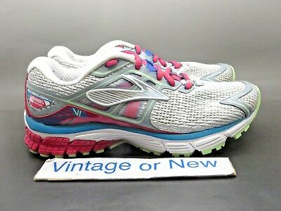 738f5d0c77b Women s Brooks Ravenna 6 White Raspberry Paradise Green Running Shoes sz 5.5
