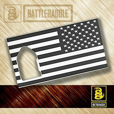 Battleraddle Credit Card Bottle Opener Wallet Thin Size Combat US Flag Military